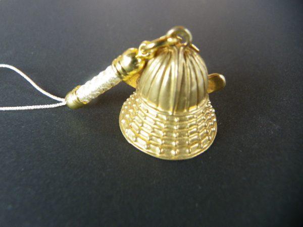 ゴールド兜・明智光秀の桔梗紋入りサムネイル